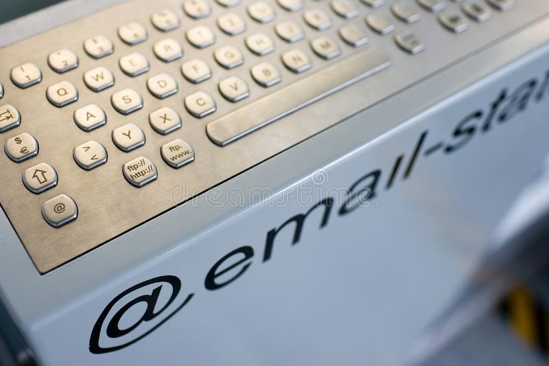 Public @ email-station royalty free stock photos