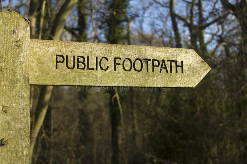 Download Public footpath stock image. Image of pointing, sunlight - 29571587