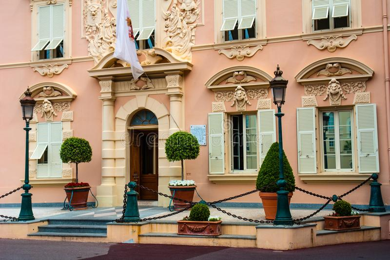 Public Force building at the Palace Square in Monte Carlo, Monaco stock photos