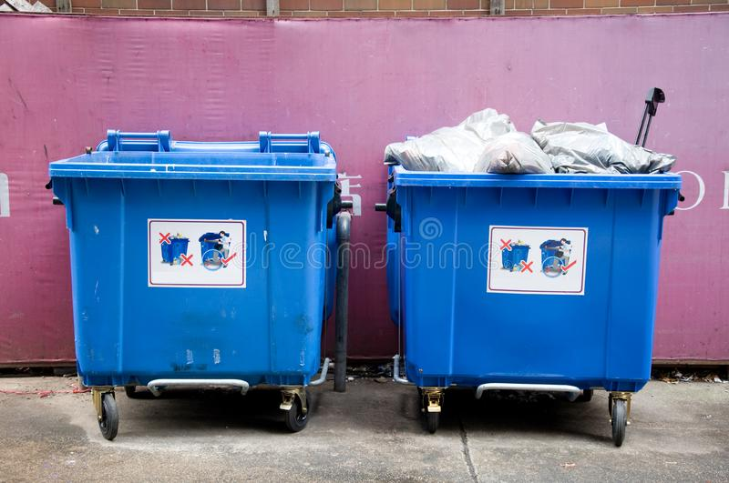 Public garbage stock photos