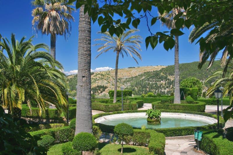 Public garden in Sicily stock photo