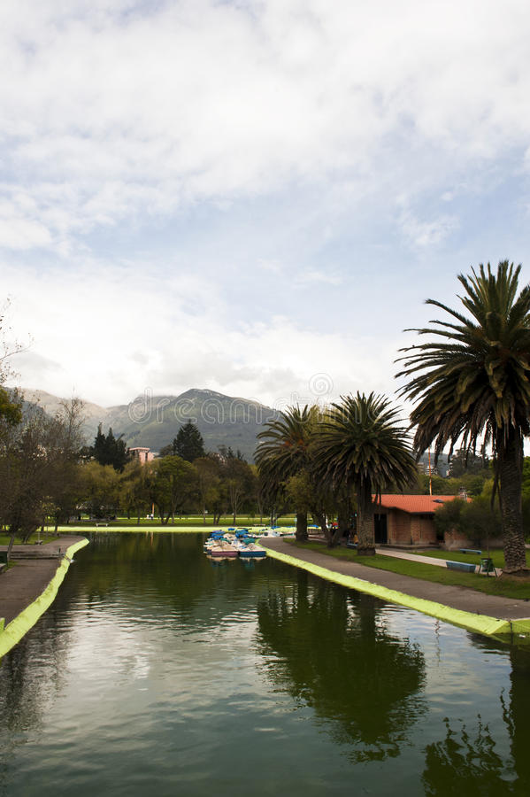 Download Public gardens in Quito stock image. Image of trees, boat - 22951687