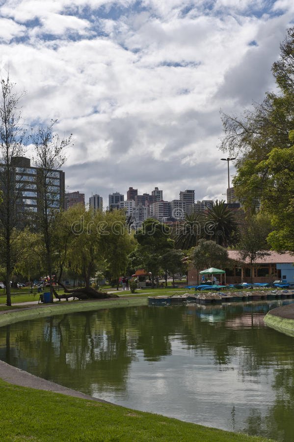 Download Public gardens in Quito stock photo. Image of boat, park - 23609086