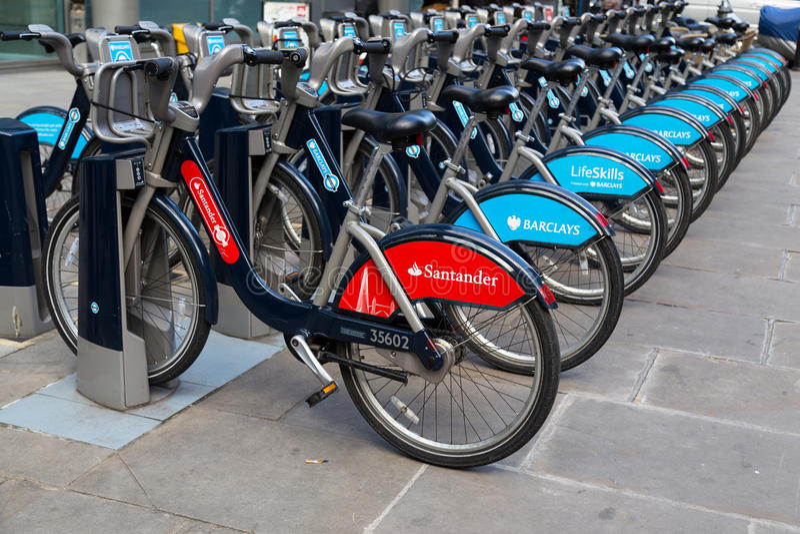 Public Hire Bikes in London stock photos
