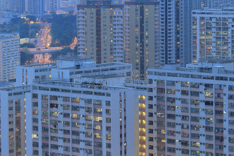 The public house hong kong Estate. At kowloon royalty free stock photography