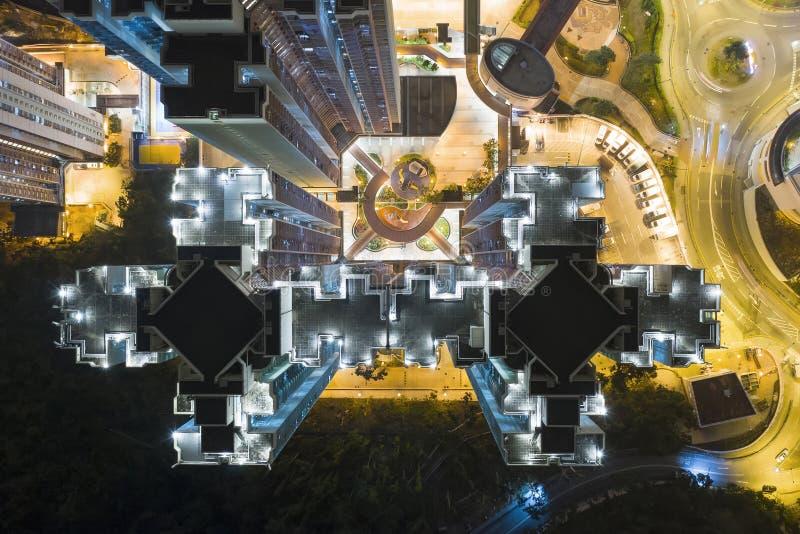 Public housing in Hong Kong top view royalty free stock photo