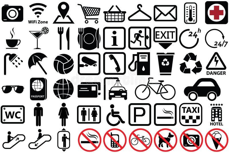Public Icon Set Stock Illustration Illustration Of Direction 71751338