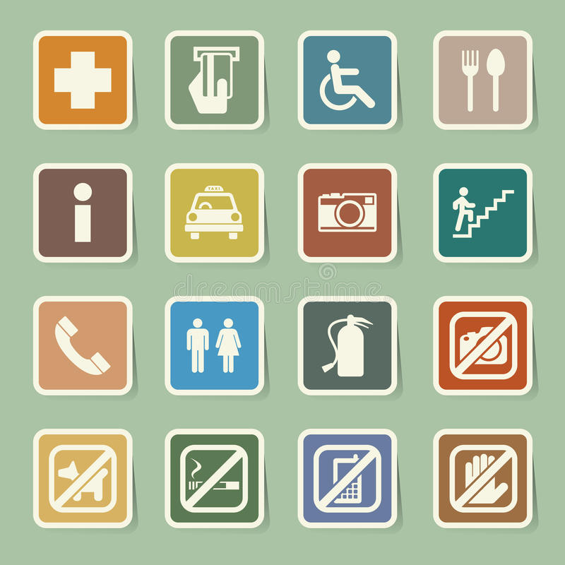 Construction Icons Set Stock Vector Illustration Of Icons