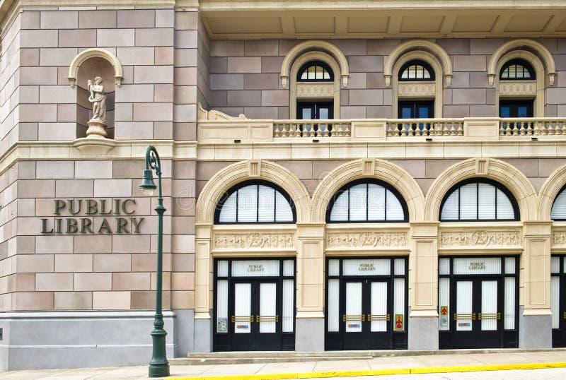 Public Library Building. A public library building on a movie set royalty free stock photo