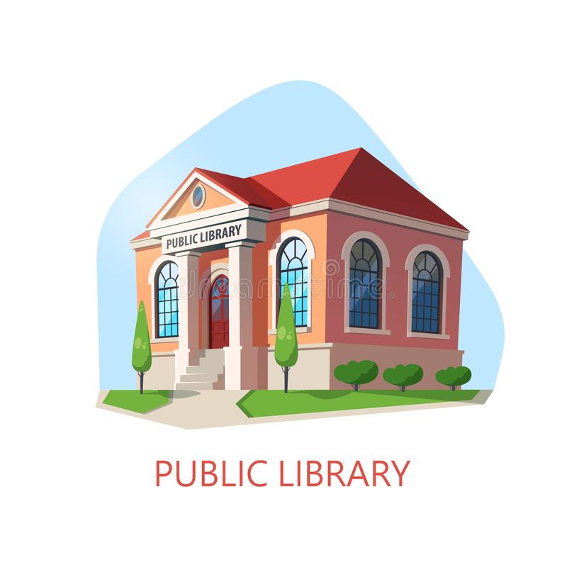Free Public Library Building, Construction For Reading Royalty Free Stock Photo - 131581675