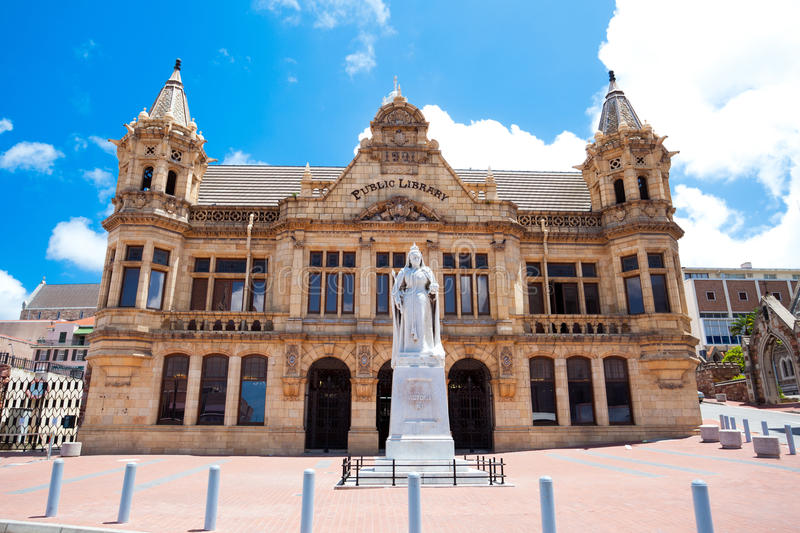 Public library building of Port Elizabeth. South Africa stock photos
