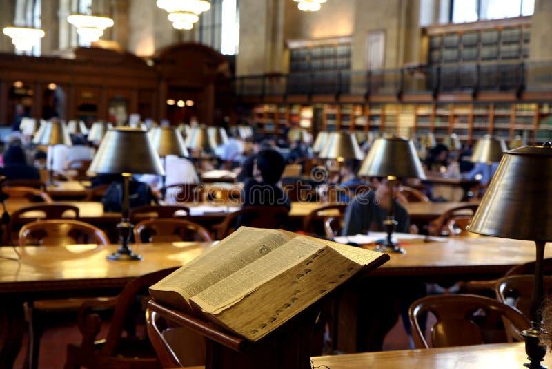 Public Library Interior Royalty Free Stock Photo