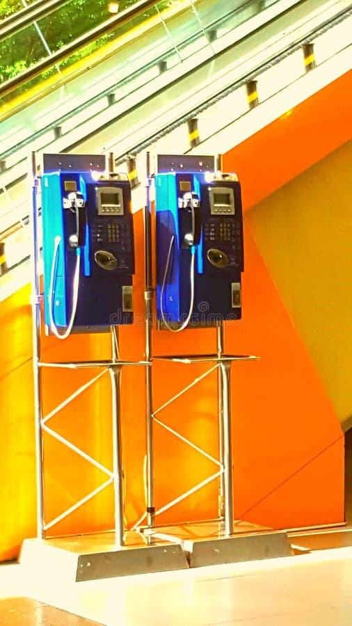 Public Line Telephone stock photo