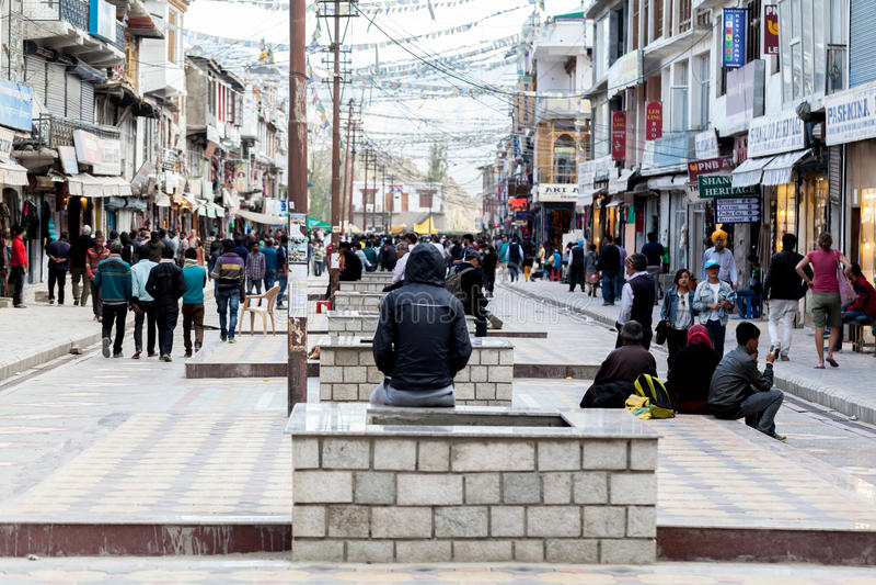 Public market in Lah Ladakh stock photos