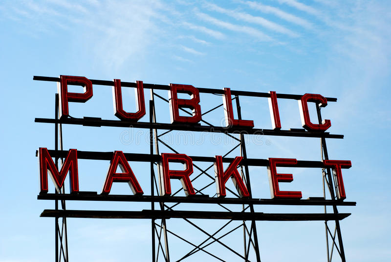 Download Public Market Sign stock photo. Image of signage, public - 22419596