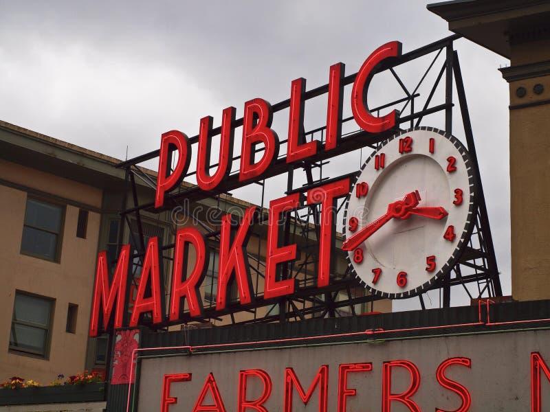 Public Market Sign royalty free stock photos