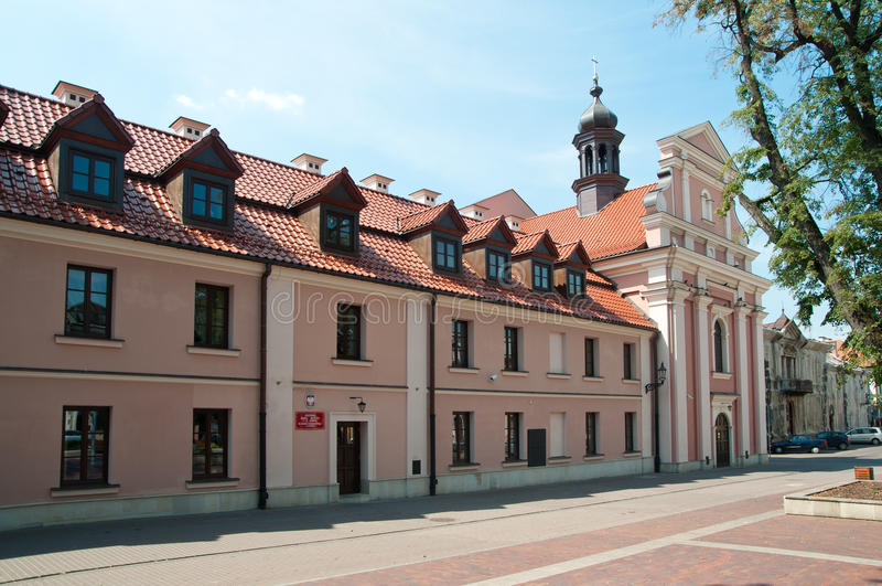 Public music school in the Zamosc. Public music school in the Zamosc on the old town royalty free stock photography