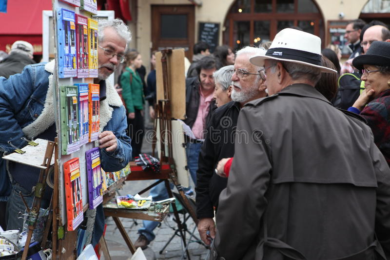 Download Public Painter And Buyer On Montmartre Editorial Photography - Image: 33572382