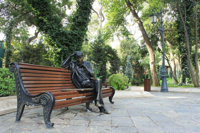 Public park in Baku stock images