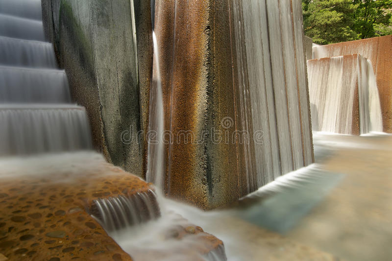 Public Park Water Fountain with Stair Steps stock photos
