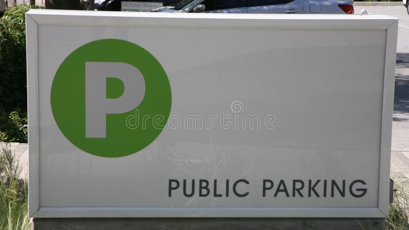 Public Parking. Pay to park public parking garage entrance royalty free stock images