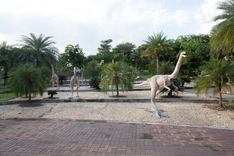 Public parks of statues and dinosaur in KHONKEAN , THAILAND stock photography