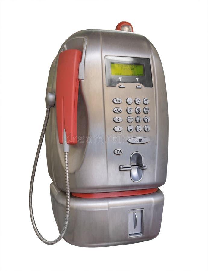 Public pay telephone, isolated royalty free stock photography