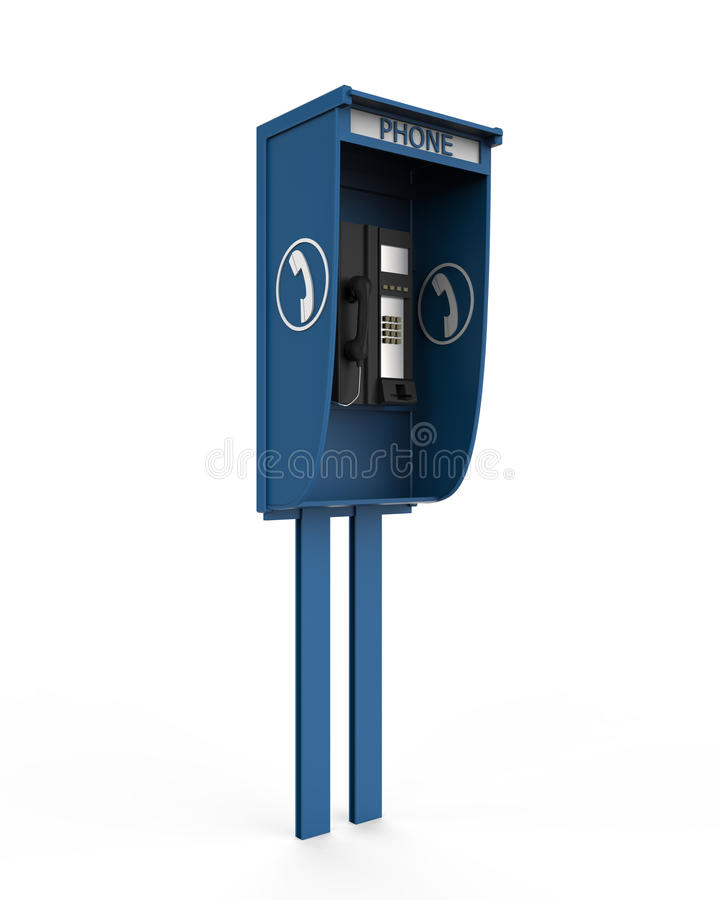 Free Public Payphone Isolated On White Background Stock Images - 30273034