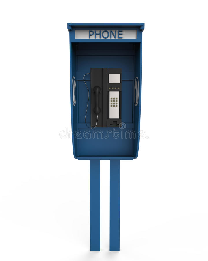 Free Public Payphone Isolated On White Background Stock Image - 30273391