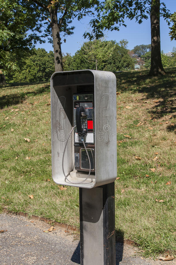 Free Public Phone In Park Royalty Free Stock Photography - 38191647
