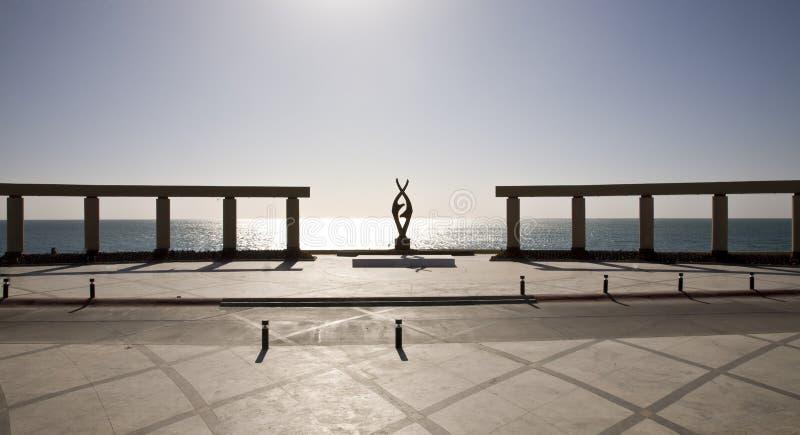 Public Plaza at Puerto Penasco Mexico. A public plaza on the sea at Puerto Penasco (Rocky Point) Mexico royalty free stock photos