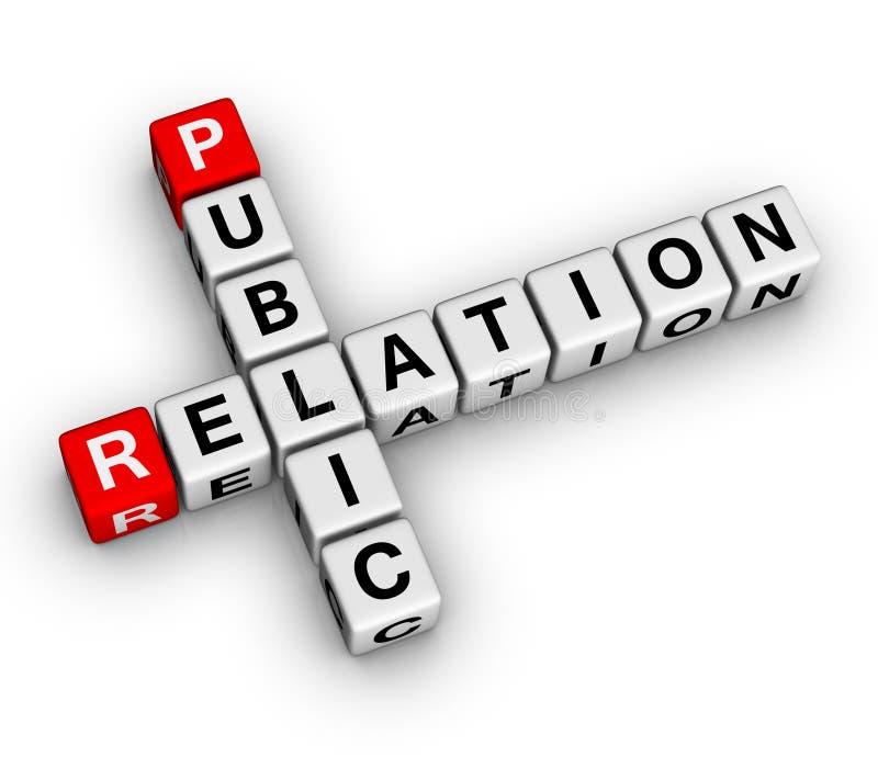 Public Relation. (3D crossword series stock illustration