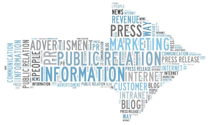 Public Relation. Information word cloud vector illustration
