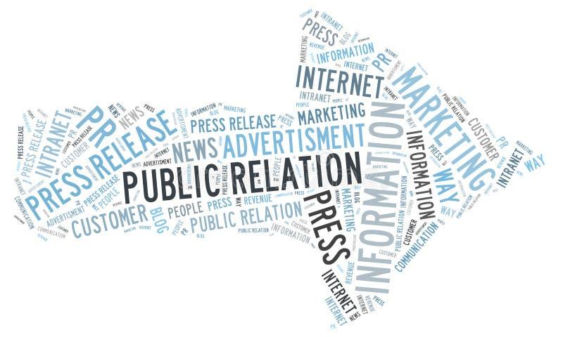 Public Relation. Information word cloud royalty free illustration
