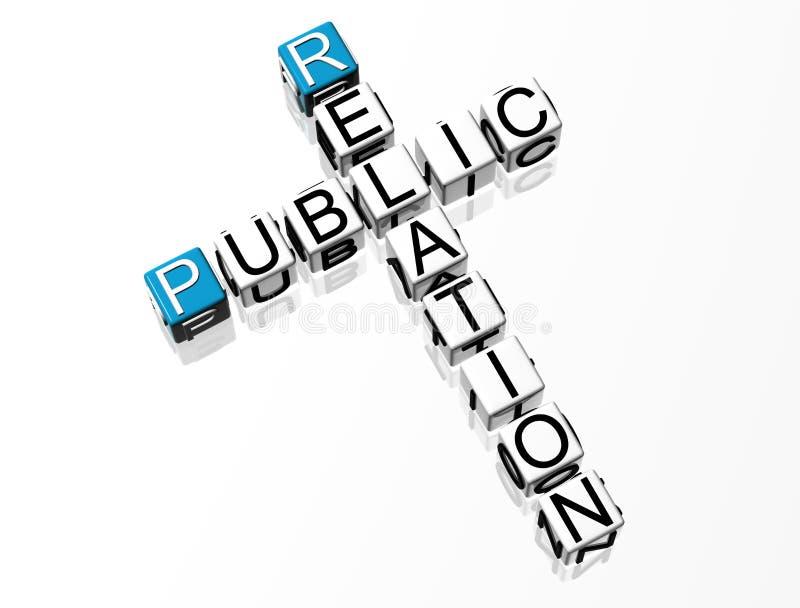 Public Relation Crossword. On white backround vector illustration