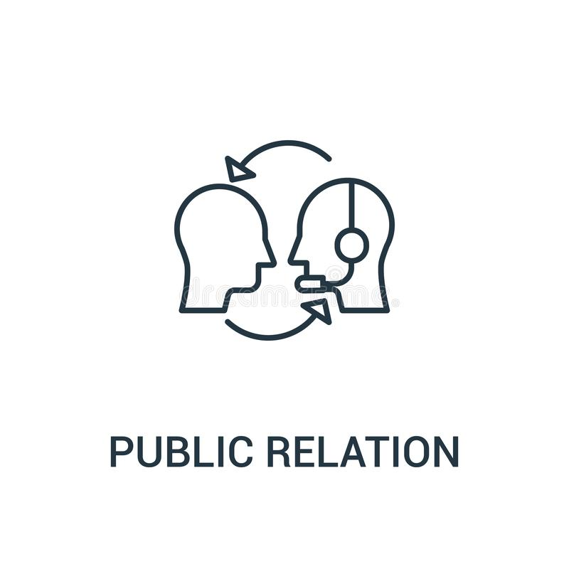 Public relation icon vector from ads collection. Thin line public relation outline icon vector illustration. Linear symbol for use. On web and mobile apps, logo vector illustration