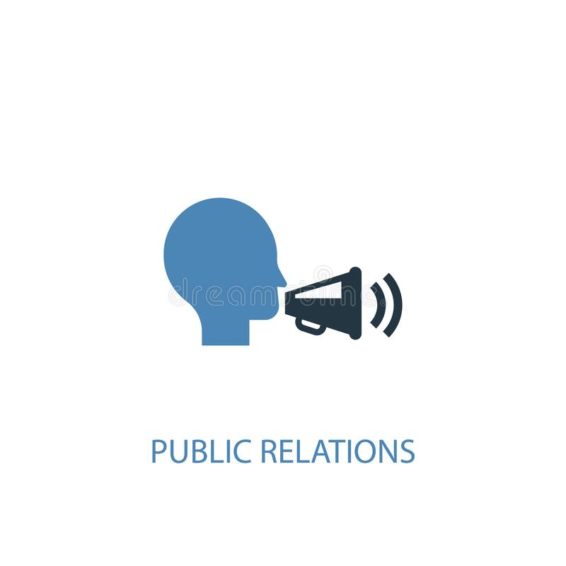Public relations concept 2 colored icon. Simple blue element illustration. public relations concept vector illustration