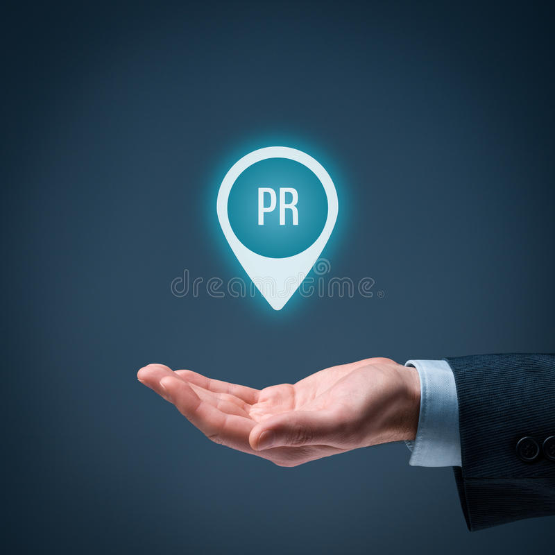 Public relations PR royalty free stock photo