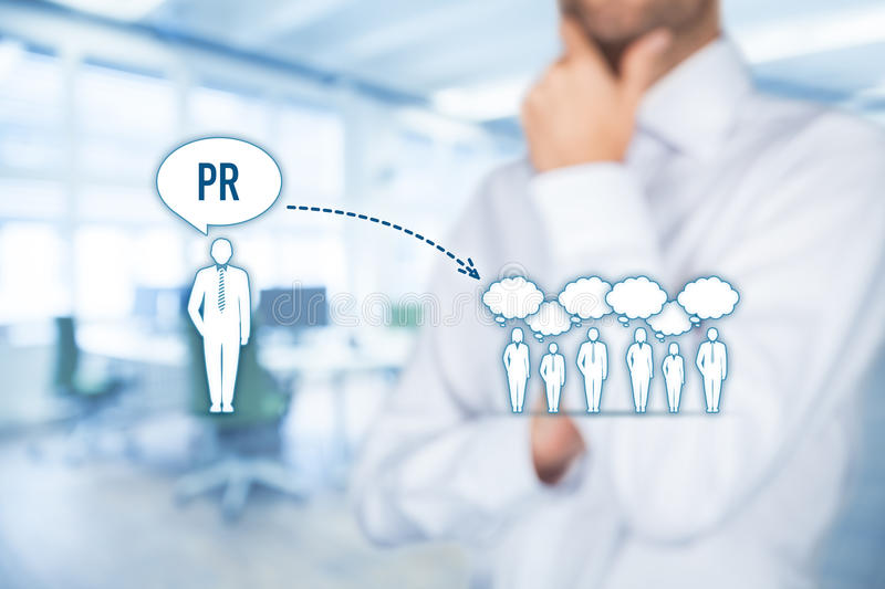 Public relations PR royalty free stock photography