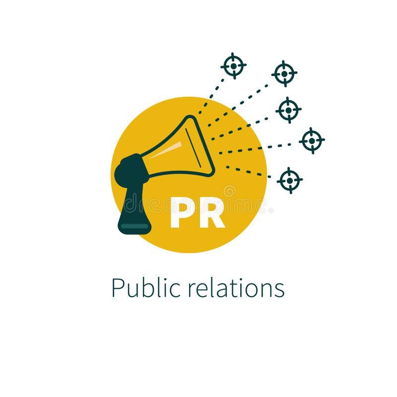 Public relationsvector royalty-vrije illustratie