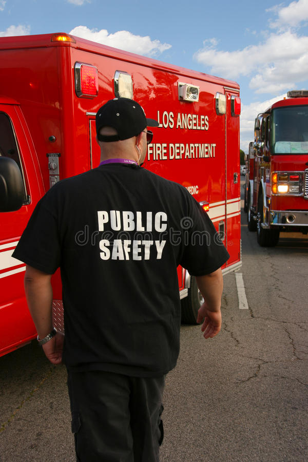 Public safety officer stock image