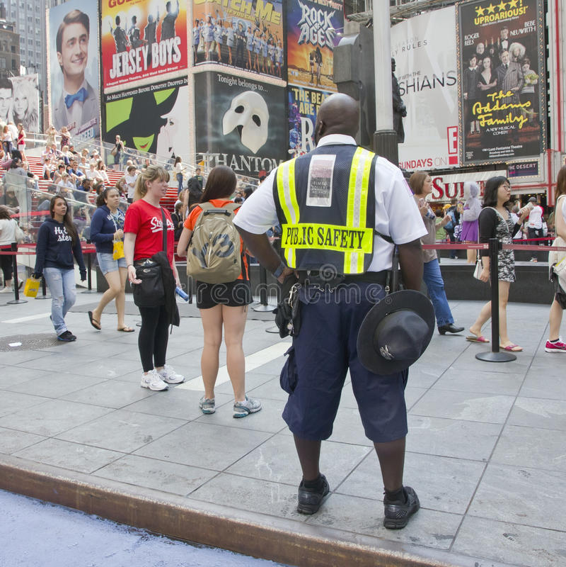 Public Safety Policeman. Editorial Stock Photo