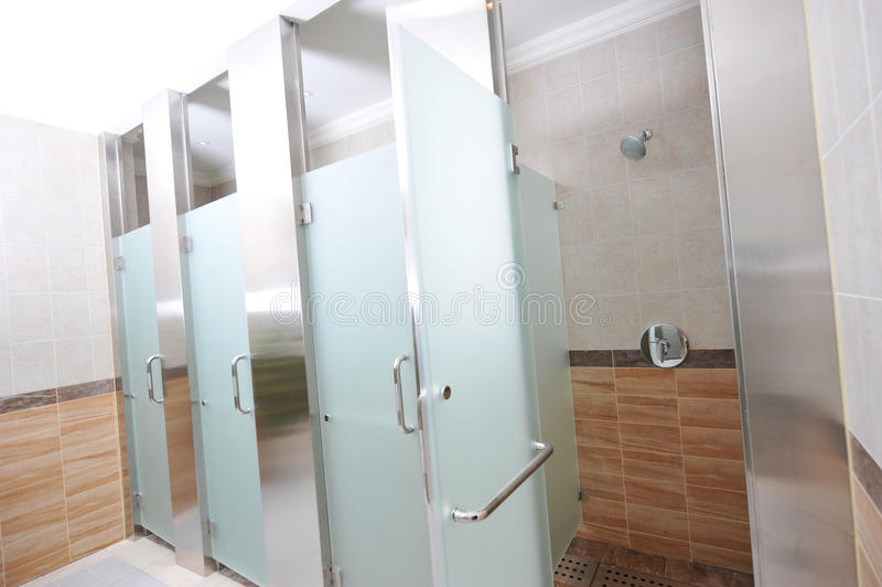 Download Public shower stock image. Image of bath, empty, modern - 16747743