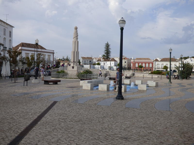 Public square Tavira stock image
