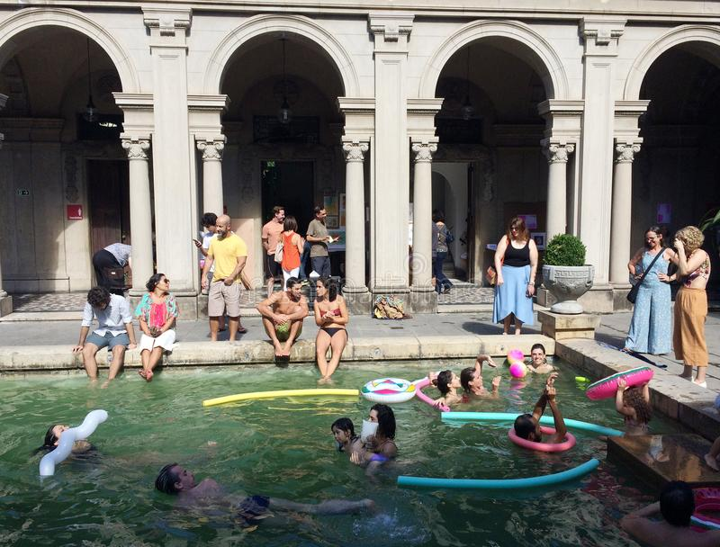 Public Swimming Pool of Parque Lage. stock photography