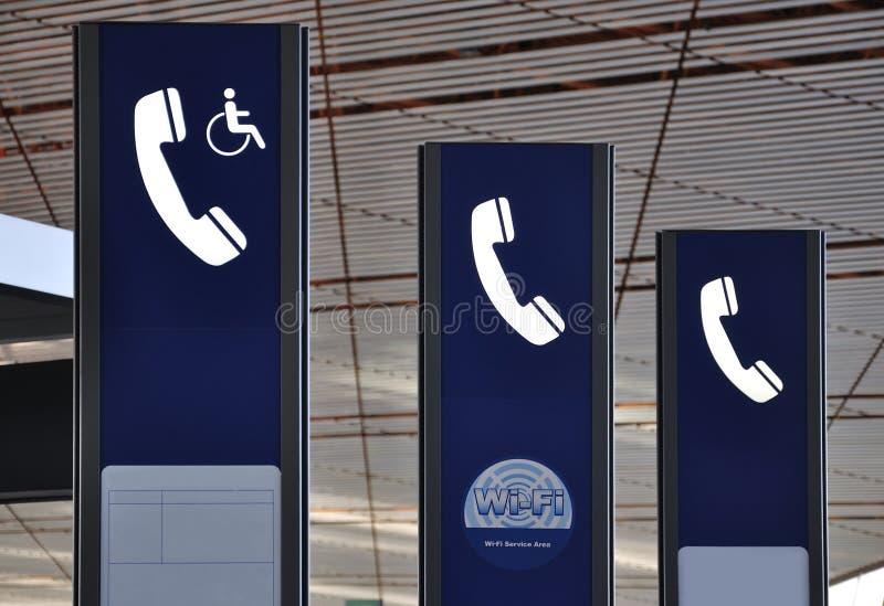 Public Telephone Logo,Wifi Stock Photo