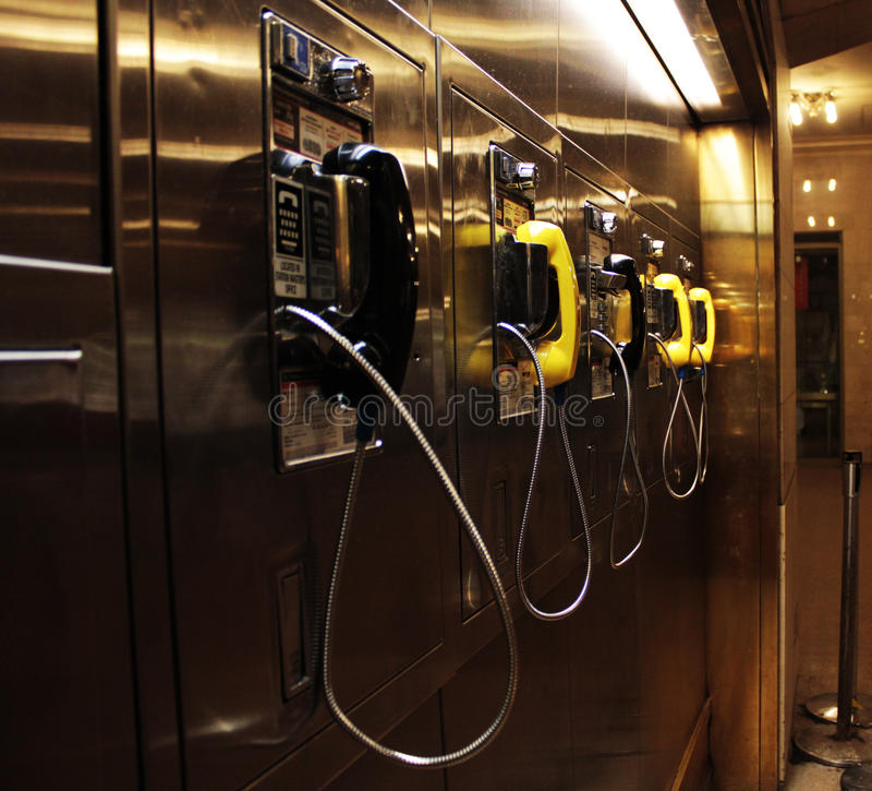 Public Telephones. At the Central Station, Manhattan stock images