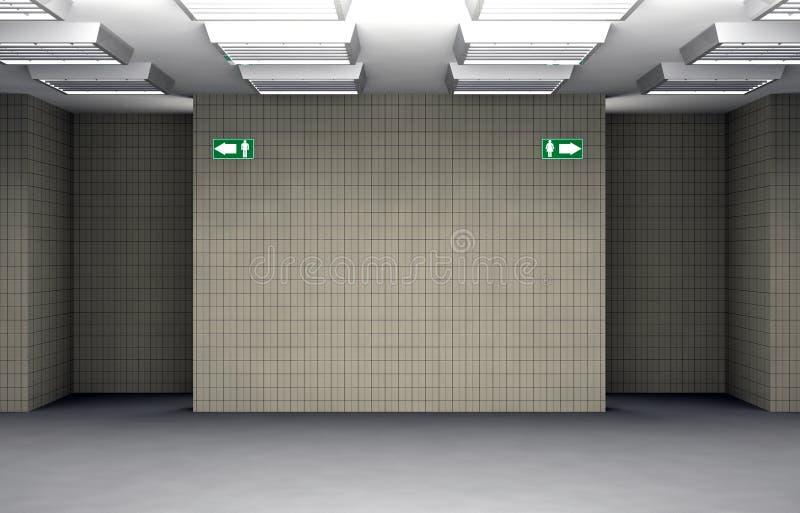 Public toilet entrance vector illustration