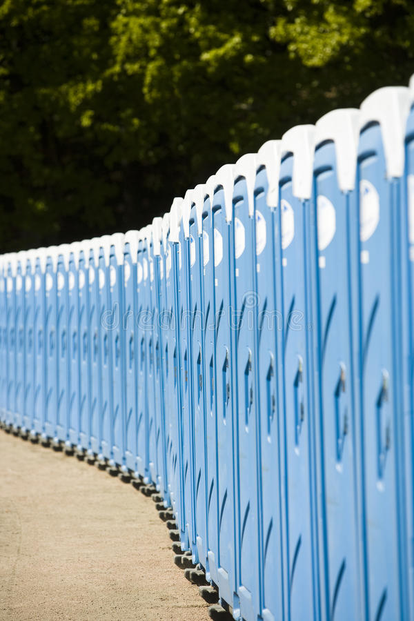 Public toilets. In a row royalty free stock image