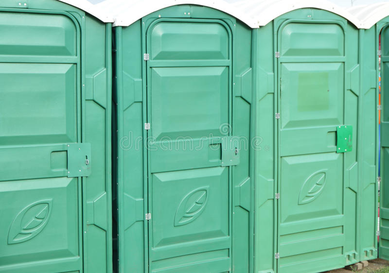 Public toilets are in the Park for cleanliness and hygiene.  stock images